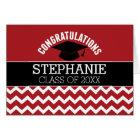 Congratulations Graduate - Red Black Graduation Card