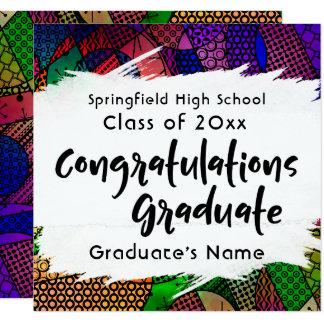 """Congratulations Graduate"" Typography Announcement"