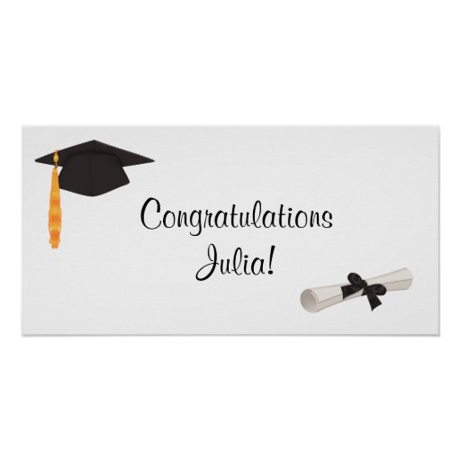 Congratulations Graduation Banner Posters | Zazzle