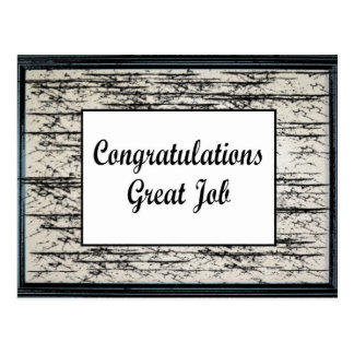 Congratulations Great Job Postcard