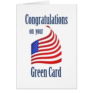 Congratulations Green Card US Flag