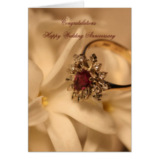 Congratulations Happy Wedding Anniversary Greeting Card
