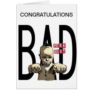 Congratulations It's a Bad Boy! Greeting Card