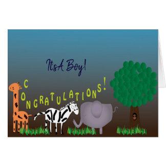 Congratulations It's A Boy Card
