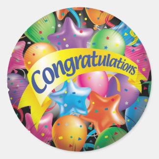 Congratulations jpg round sticker