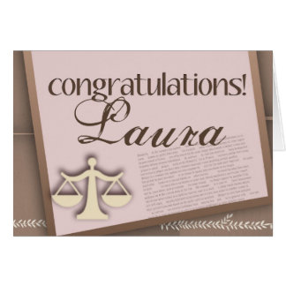 Congratulations Law School Graduate Card