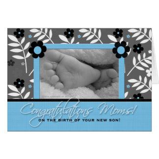 Congratulations Lesbian Moms - Birth of a Son Card