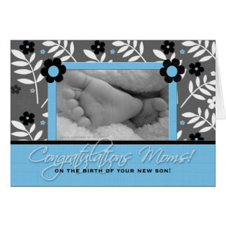 Congratulations Lesbian Moms - Birth of a Son Greeting Card