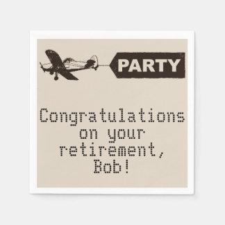 Congratulations Military Retirement Party Napkins Paper Serviettes