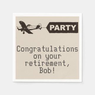 Congratulations Military Retirement Party Napkins Disposable Napkins