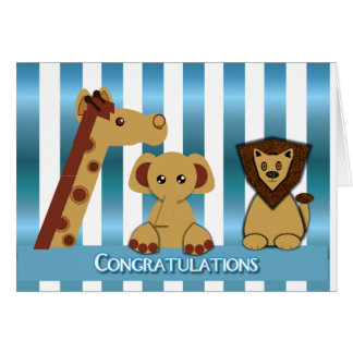 Congratulations, New Baby Boy Greeting Card