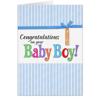 congratulations new baby boy greeting card
