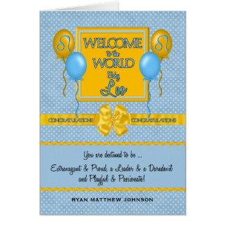 Congratulations New Baby Boy Leo Greeting Card