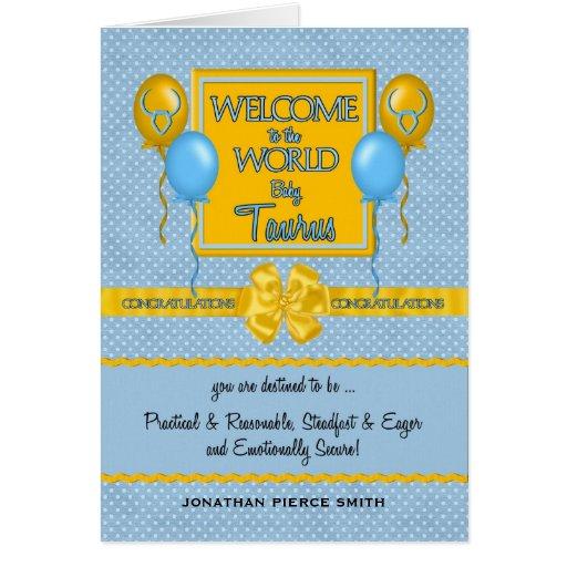 Congratulations New Baby Boy Taurus Cards