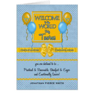 Congratulations New Baby Boy Taurus Greeting Card