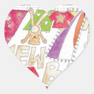 Congratulations - New Baby. Heart Sticker
