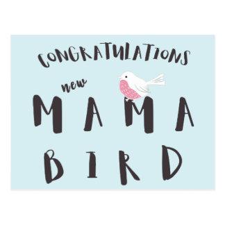 Congratulations New Mama Bird - Fun Quote Postcard