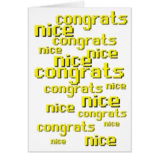Congratulations Nice Greeting Card Runescape