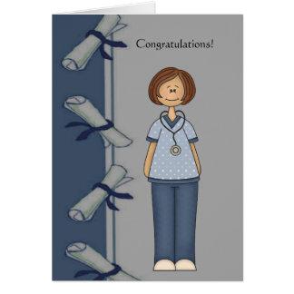 Congratulations Nurse Graduate Personalized Greeting Card