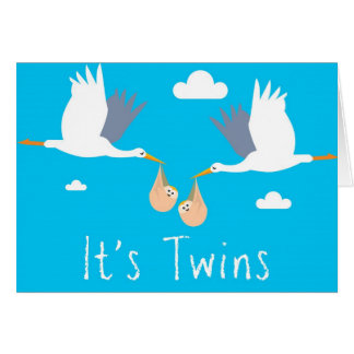 Congratulations of the Birth Card (Boy Twins)