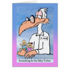 Congratulations on Birth of Fraternal Twins, Stork Card