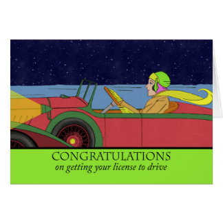 Congratulations on Getting Your License to Drive Greeting Card