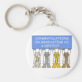 Congratulations on graduating as a dentist. key ring