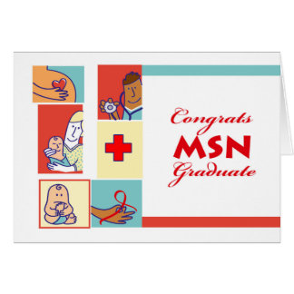 Congratulations on Graduation, MSN Degree, Nursing Card