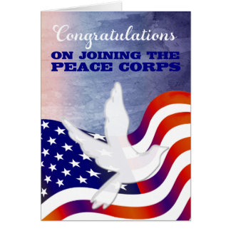 Congratulations on Joining the Peace Corps Card