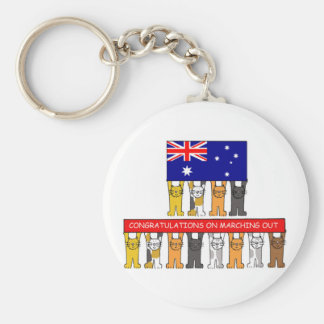 Congratulations on Marching Out. Basic Round Button Key Ring