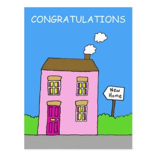 Congratulations on moving in together, new home. postcard