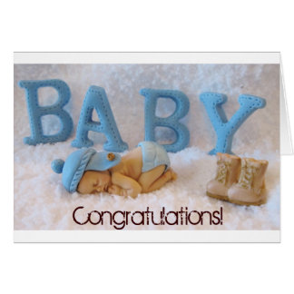 Congratulations on new baby boy US Army soldier Card