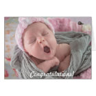 Congratulations on New Baby Girl Card