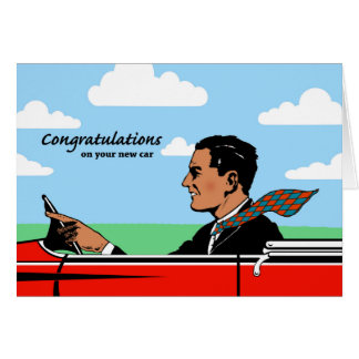 Congratulations on New Car for Grandpa, Sports Car Card
