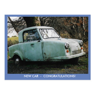 Congratulations On New Car Postcard