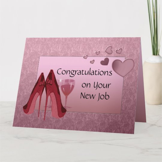 Congratulations On New Job Greeting Card