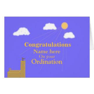 Congratulations on Ordination customize add name Card