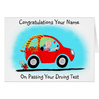 Congratulations on Passing Driving Test Greeting Card