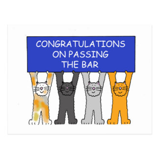 Congratulations on passing the bar exam. postcards