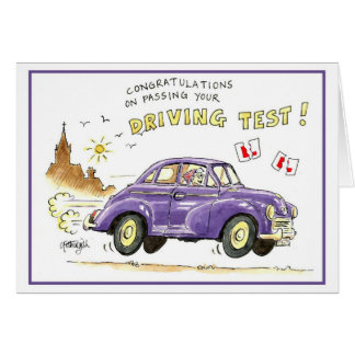 Congratulations on passing your driving test greeting card