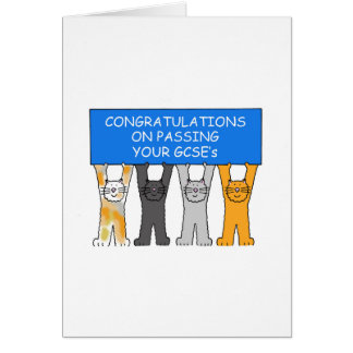 Congratulations on passing your GCSE's Card