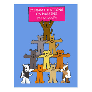 Congratulations on passing your GCSEs. Postcard