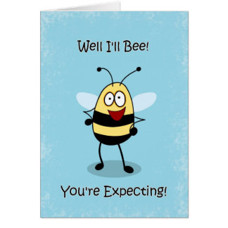 Congratulations on Pregnancy, Bumble Bee Card