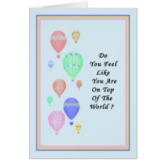 Congratulations on Promotion with Hot Air Balloons Card