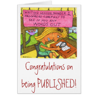 Congratulations on Publication! Card