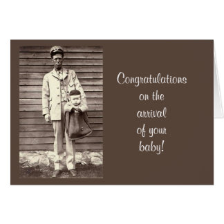 Congratulations on the Arrival of New Baby humor Card