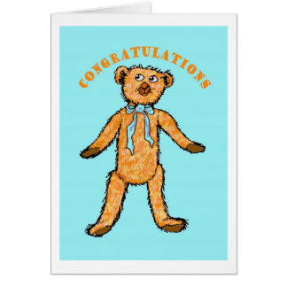 """Congratulations on the birth of your baby Boy"", Greeting Card"