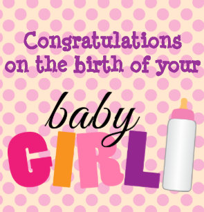 congratulations on the birth of your baby girl wrapping paper