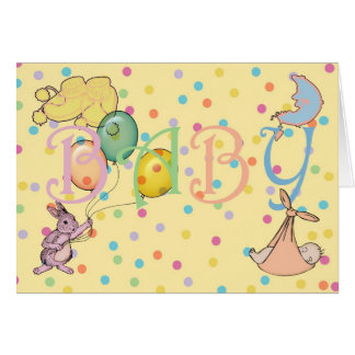 Congratulations on the birth of your new baby greeting card