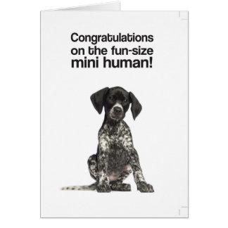 Congratulations on the mini human (GSP) - Card